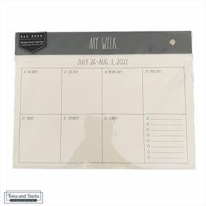 Rae Dunn MY WEEK Weekly Desk Calendar